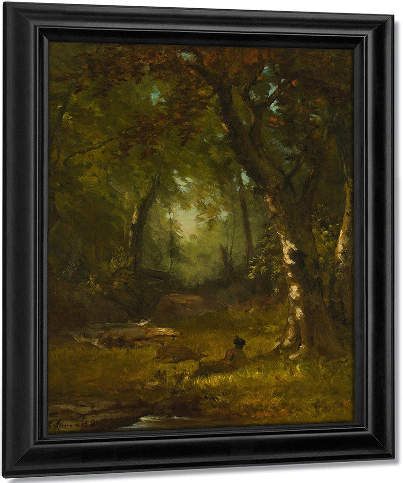 Landscape With Huntsman By George Inness