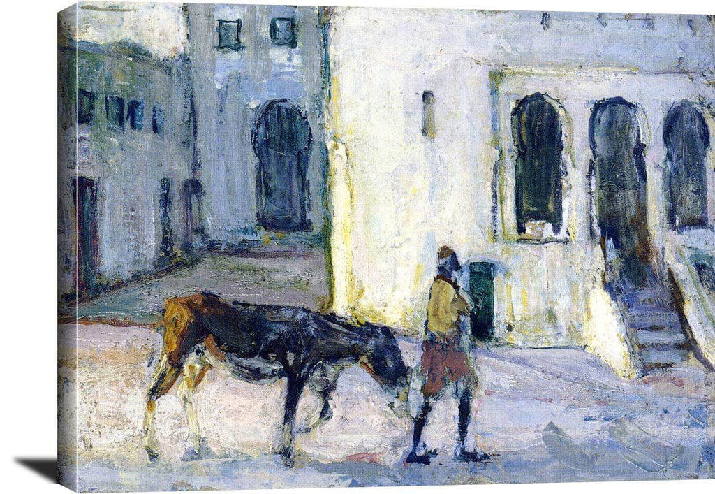 Man Leading A Donkey In Front Of The Palais De Justice Tangier Henry Ossawa Tanner