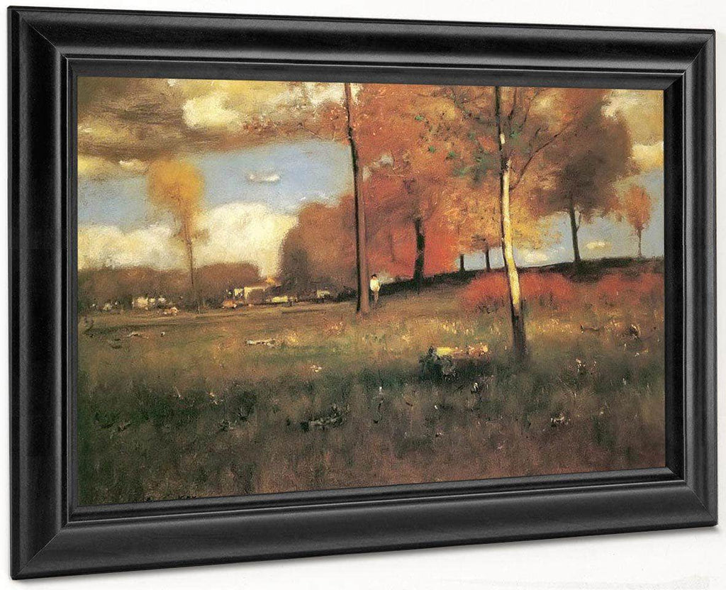 Near The Village October By George Inness