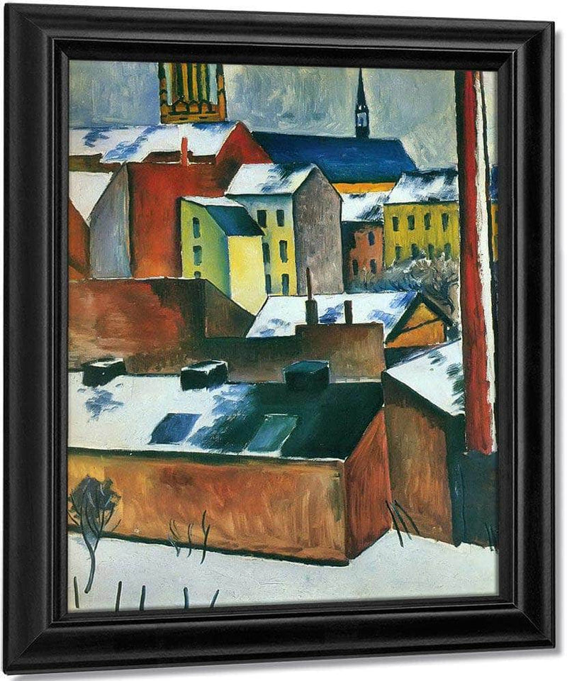 The Church Of St Mary In Bonn Covered With Snow By August Macke