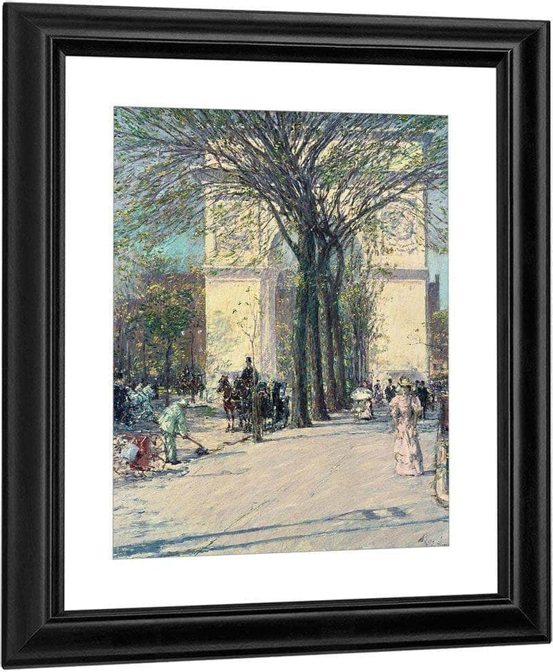 Washington Arch Spring By Childe Hassam