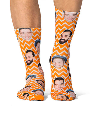 Zig Zag Face Pattern Socks