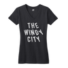 The Windy City Chicago women's vneck t shirt Bandwagon Champs