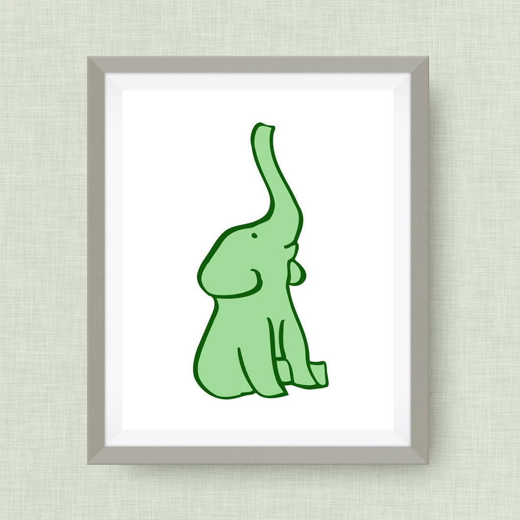 Elephant Art Print - Custom Nursery Art