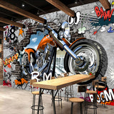 Creative-Wallpaper-motorcycle-Street-Graffiti