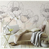 hand-painted-3d-wallpaper-mural-flower-background-removable