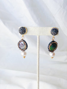 MAYA Abalone Statement Earring