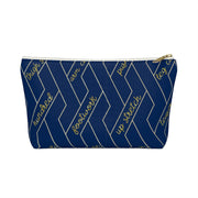 Navy and Gold Reformer Exercises Accessory Pouch w T-bottom