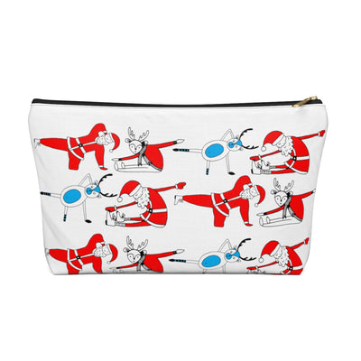 Christmas Pilates Accessory Pouch w T-bottom