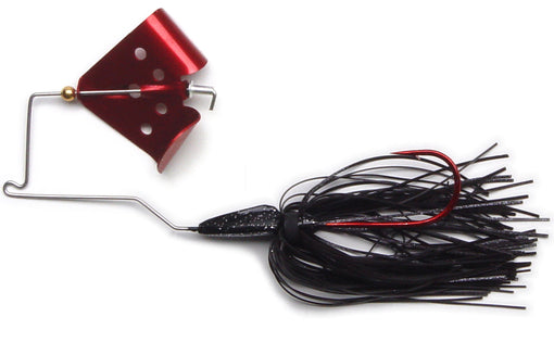 Megastrike Cavitron Buzzbait [Black with Red Blade]