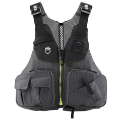 NRS Raku Fishing PFD - Unisex - Charcoal - Front View