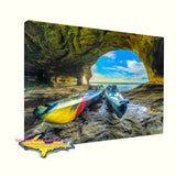 Pictured Rocks Caves Kayak -1794 Michigan Canvas, Prints, Gifts