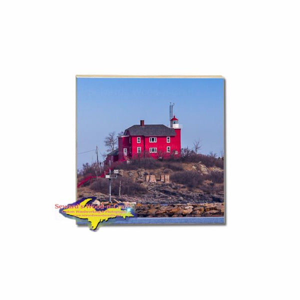 Marquette Lighthouse MIchigan's Upper Peninsula Coasters