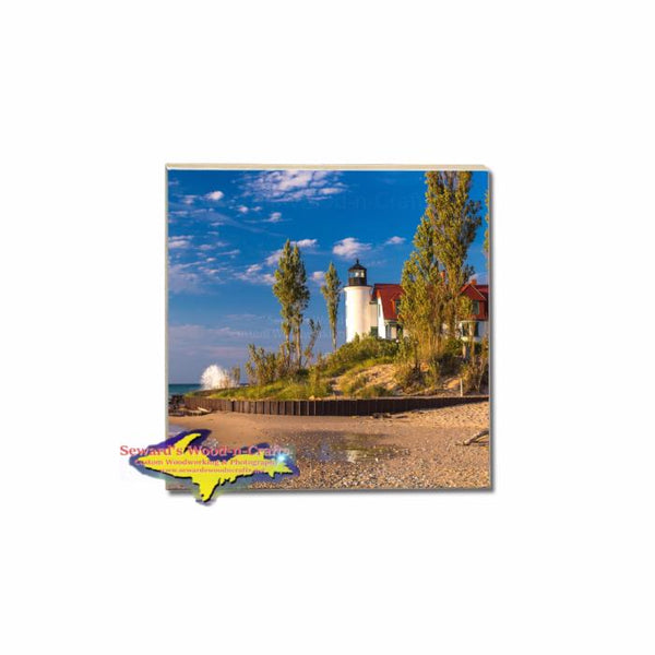 Find Your Michigan Place Point Betsie Lighthouse Coaster Photo Tiles