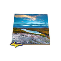 Fun for everyone coaster puzzles of Michigan's Upper Peninsula