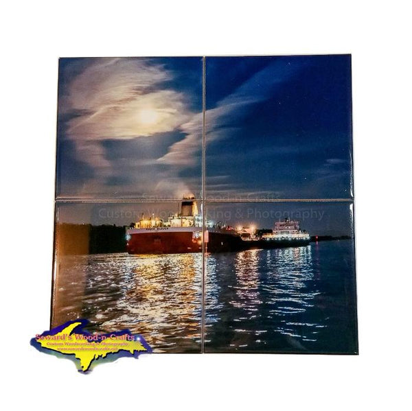 Lake Freighters Coaster Puzzle Sets Roger Blough For Boat Fans