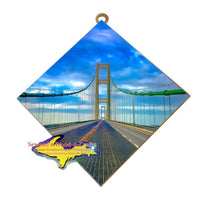 The Gateway To The North Mackinac Bridge Michigan's Upper Peninsula Hanging Art