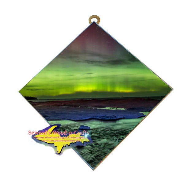 Northern Lights Pendells Creek Sault Ste. Marie Wall Art Home And Cabin Decor