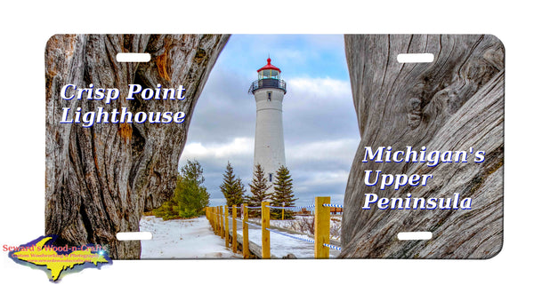 Michigan License Plates Crisp Point Lighthouse Driftwood Great Yooper Gifts