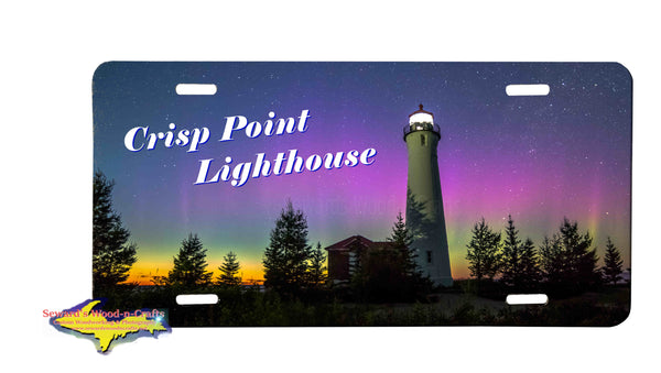 Michigan License Plates Crisp Point Lighthouse Northern Lights Great Yooper Gifts
