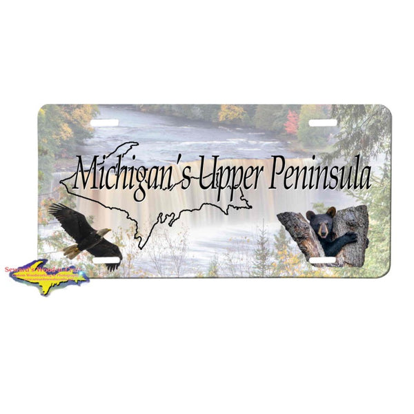 Michigan License Plates Michigan's Upper Peninsula Upper Tahqaumenon Yooper Gifts