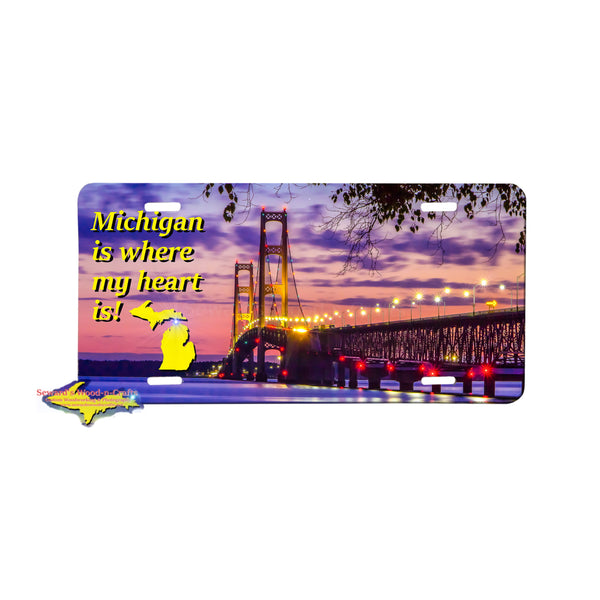Michigan License Plates Mackinac Bridge Great Yooper Gifts