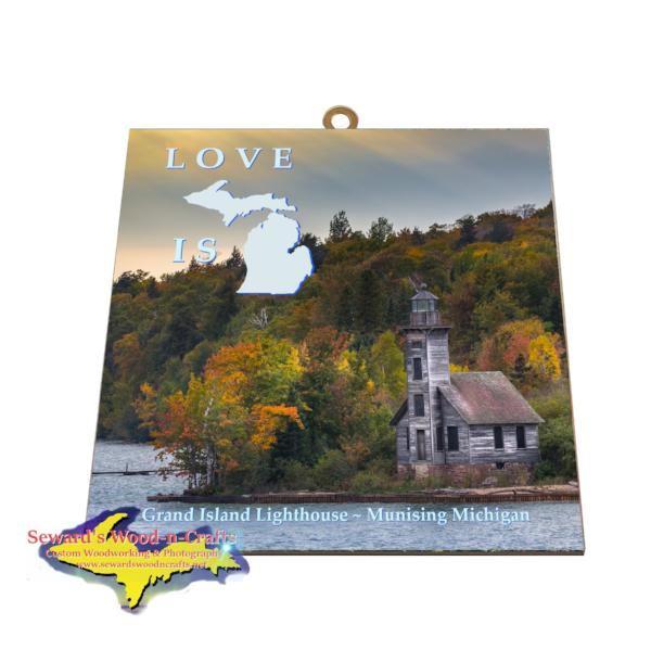 Grand Island Lighthouse Wall Art Pictured Rocks Gifts And Collectibles