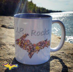 U.P. Rocks Coffee Cup Michigan's Upper Peninsula Collectibles Yooper Gifts