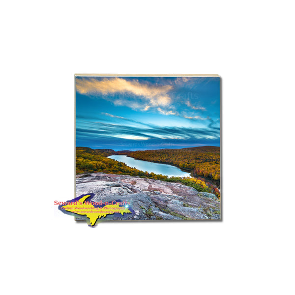 Michigan's Upper Peninsula photo coasters of Lake Of The Clouds