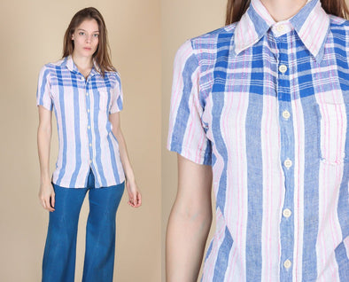 70s Esprit By Campus Cotton Shirt - Small