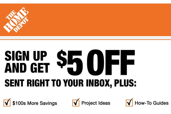 Home Depot $5 off Your Next Order Over $50