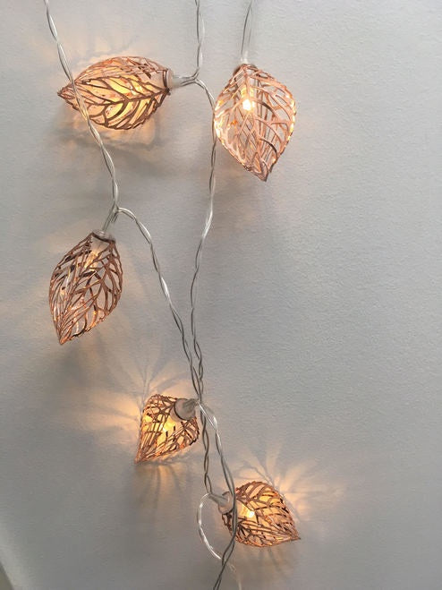 Seed Leaves Copper Tone Fairy Lights