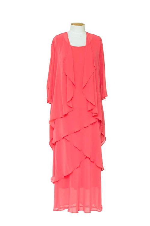 layla-jones-layered-chiffon-dress-with-jacket-coral