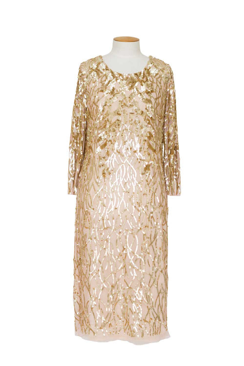 layla-jones-tea-length-beaded-mesh-dress