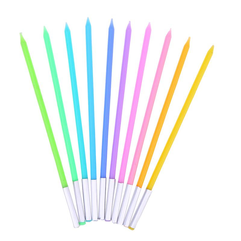Tall Rainbow Birthday Candles