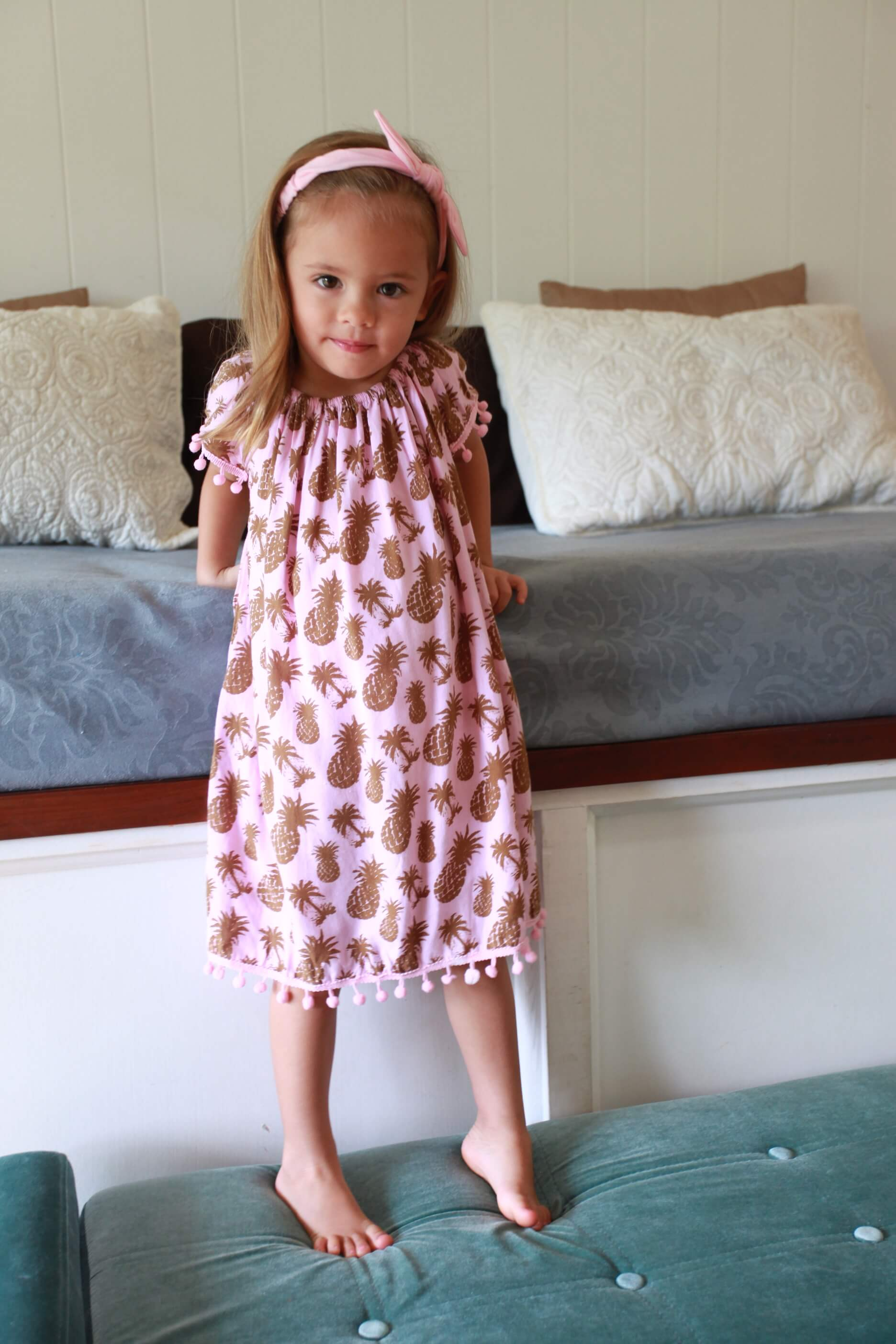 Little Lani Coco Palm Sabrina Dress
