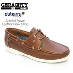 Dubarry Admirals Brown Leather Deck Shoes