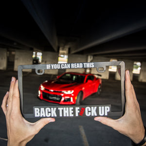 LICENCE FRAME - BACK THE FUCK UP