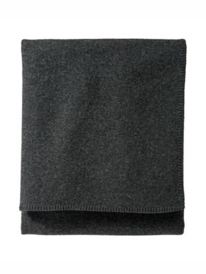 Pendleton Easy Care  Charcoal Wool Blanket