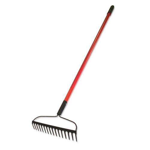 Bully Toools - 16-Inch Bow Rake with Fiberglass Handle