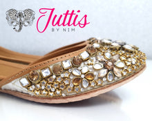 Jewelled Leather Punjabi Juttis