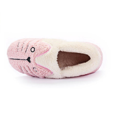 Image of Cute Cat Warm Slippers