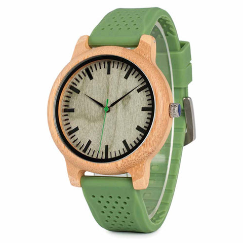 Mint For Each Other Wood Watch