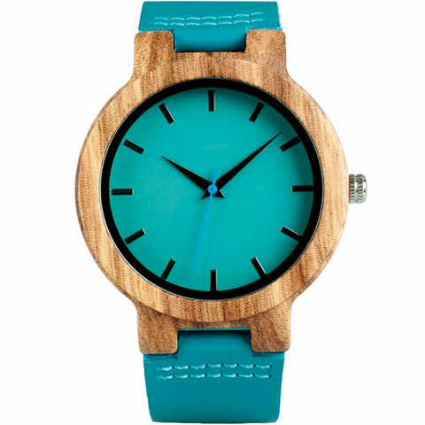 The Teal Me Wood Watch