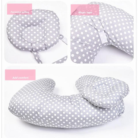 Baby Nursing Pillow With Dotted Print
