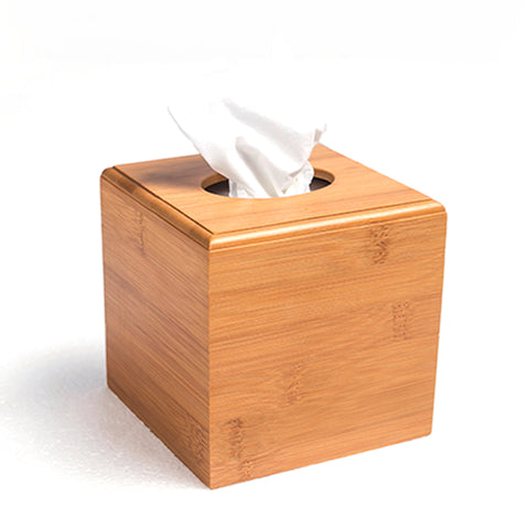 Modern Style Bamboo Square Tissue Box - Gidli