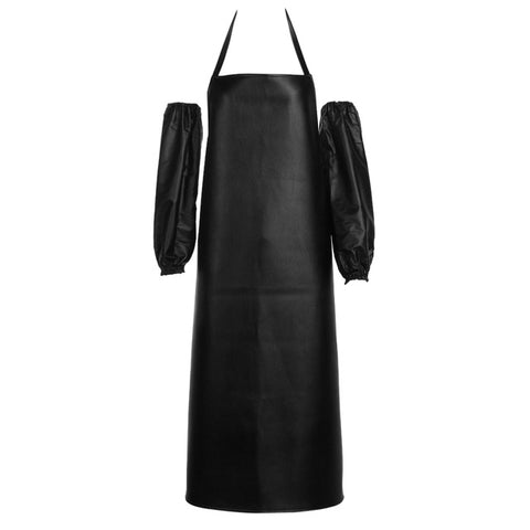 Convenient Faux Leather Chef Apron - Gidli