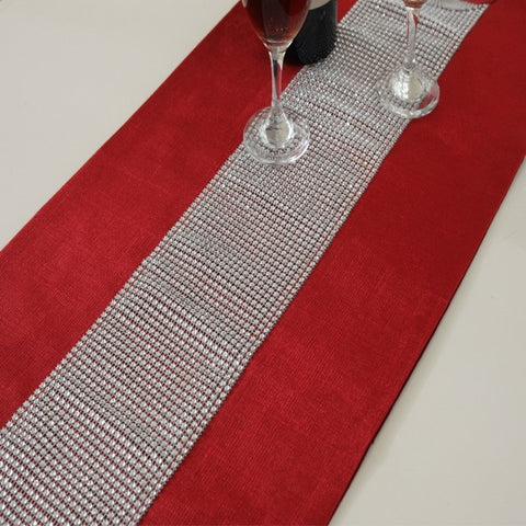 Diamante Table Runner Napkin Pillowcase - Gidli