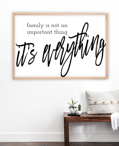 Family Wall Sign | Family Is Not An Important Thing It's Everything | Ollie + Hank