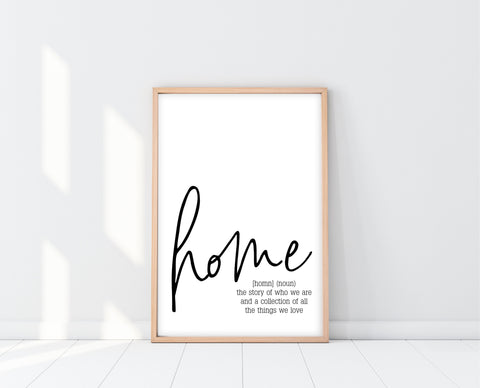 Home Definition Sign Printable | Ollie + Hank